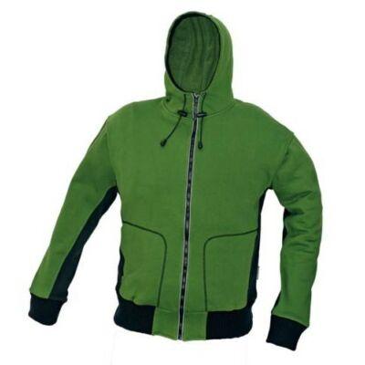 STANMORE pulóver kapucnival zöld - S