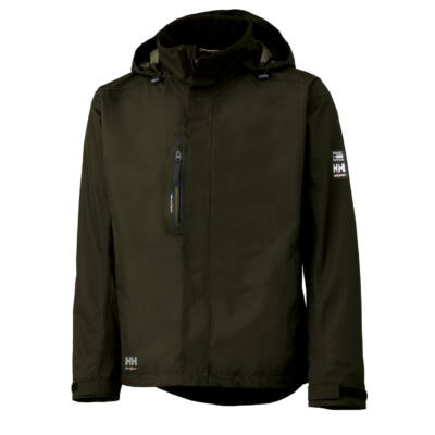 HELLY HANSEN MANCHESTER SHELL JACKET 440 olive green S