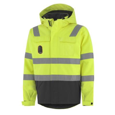 Helly Hansen ABERDEEN INSULATED Jacket 369 citrom/fekete XS