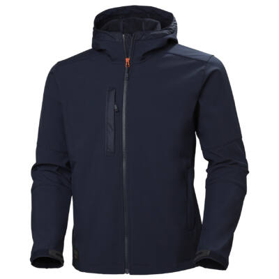 HH KENSINGTON HOODED SOFTSHELL 590 Navy S