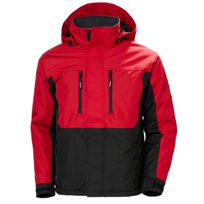 HH BERG Jacket 130 fekete/piros S