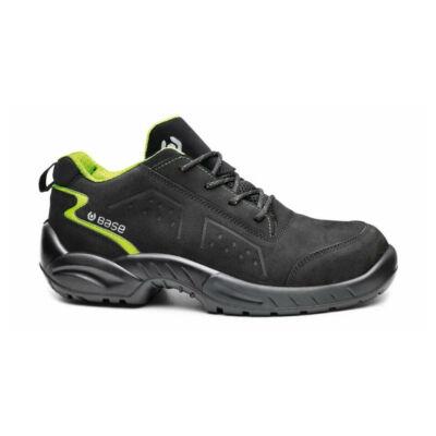 Munkavédelmi cipő Base Chester S3 SRC fekete/zöld 42