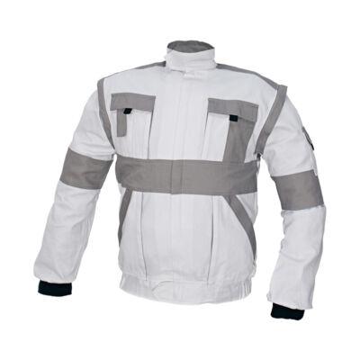 MAX kabát 260 g/m2 fehér/szürke 64