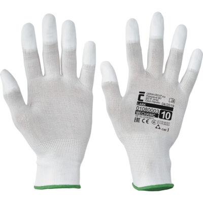 LARK ujjbegymártott nylon kesztyű XS-6