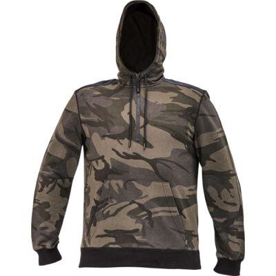 CRAMBE csuklyás pulóver terepszínű XS