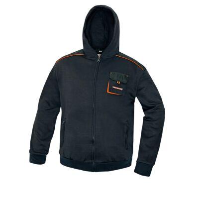 EMERTON kapucnis pulóver fekete S